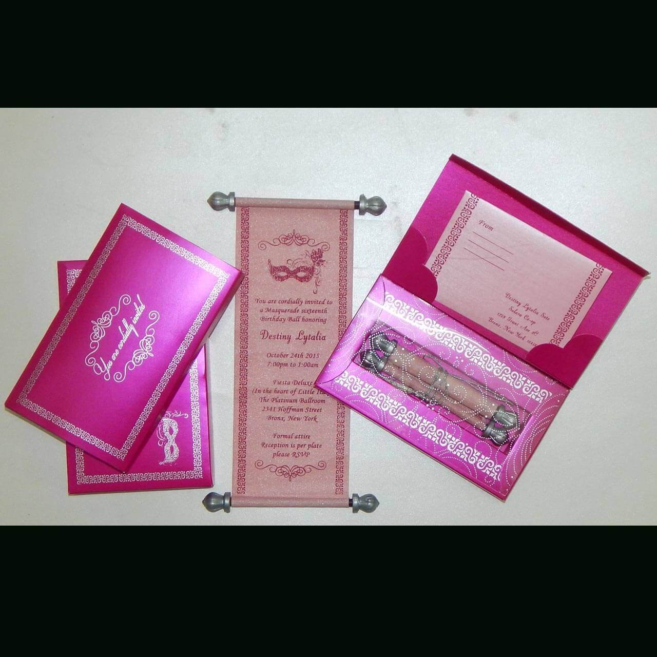 SCROLL WEDDING CARDS T1-1003 Full View
