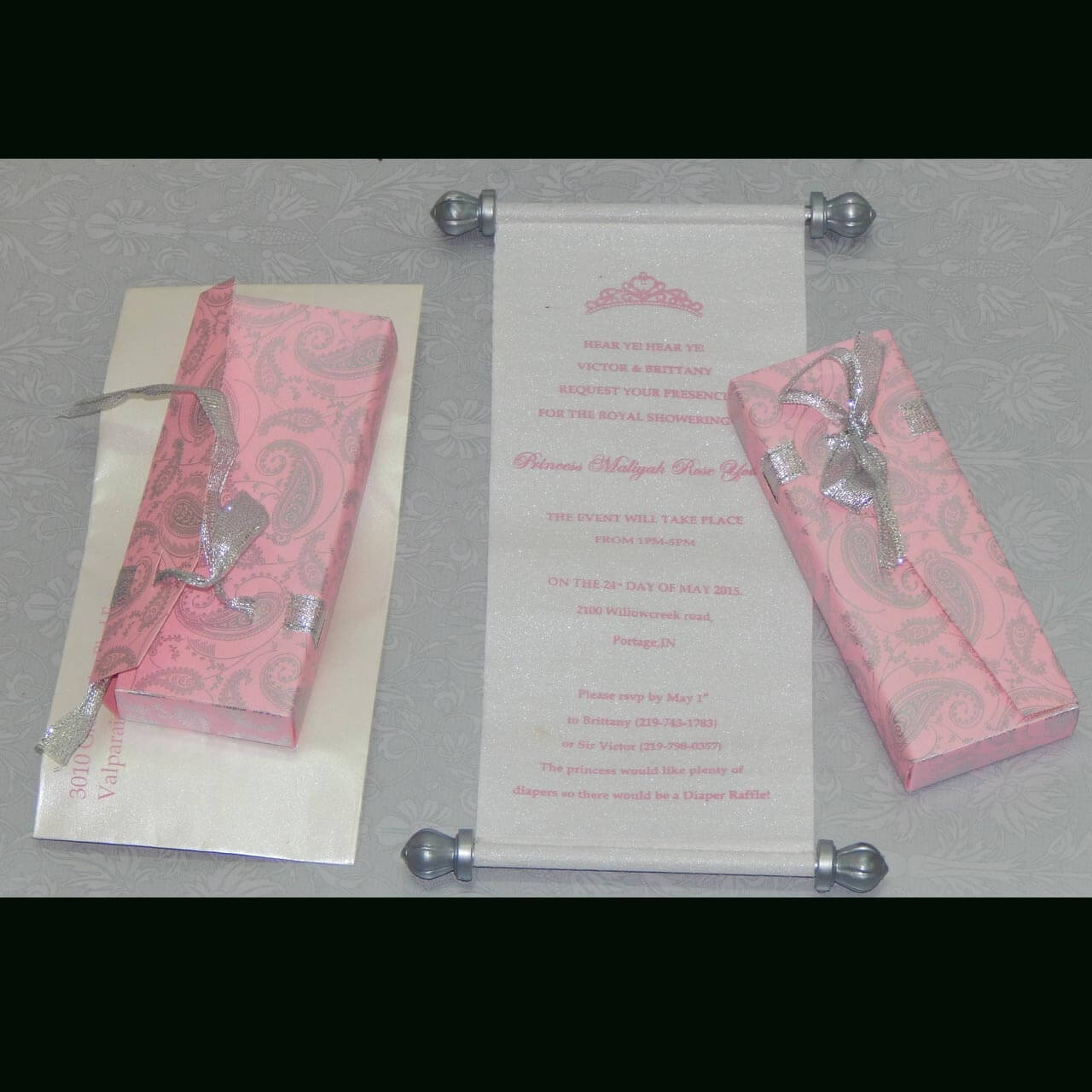 SCROLL WEDDING CARDS T1-1005 Full View