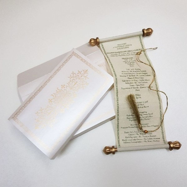 SCROLL WEDDING CARDS T5-1014 Full View