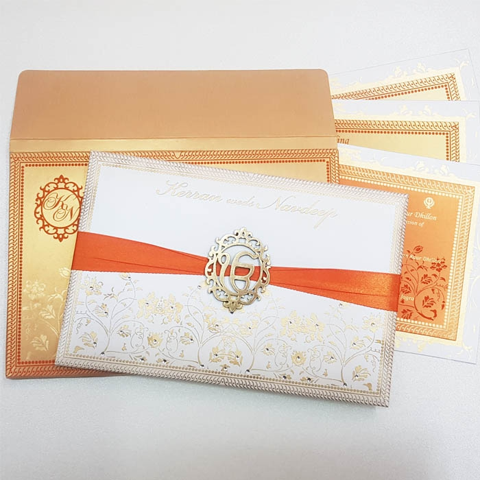 SIKH WEDDING CARDS T3-021 Full View