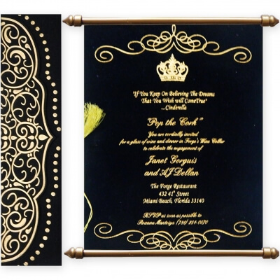 Scroll Wedding Cards T1-517 Full View