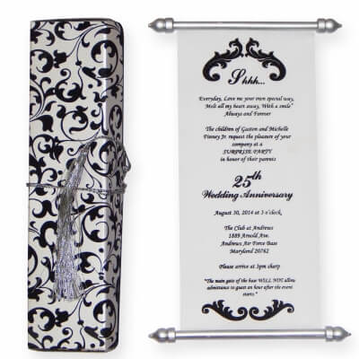 SCROLL WEDDING CARDS T1-702 Full View