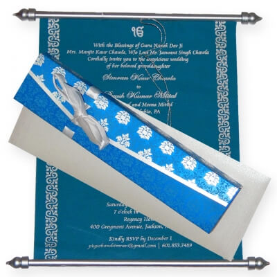 SCROLL WEDDING CARDS T1-521 Full View