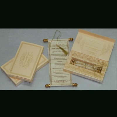SCROLL WEDDING CARDS T1-1008 Full View