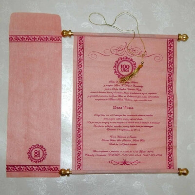 Scroll Wedding Cards T1-552 Full View