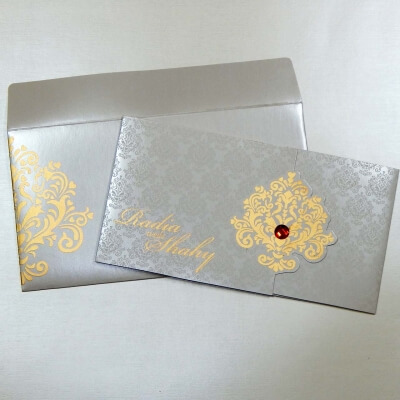 Hindu Wedding Card T1-1171 Full View