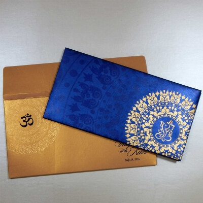 Hindu Wedding Card T1-1120 Full View