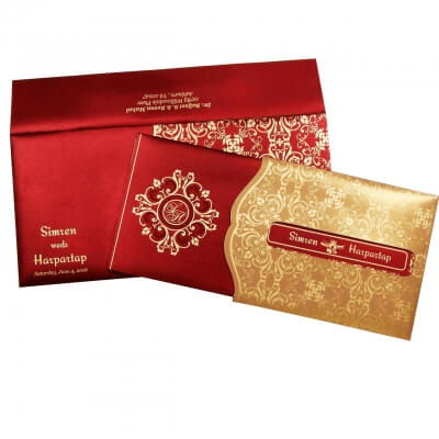 Hindu Wedding Card T1-1701 Full View