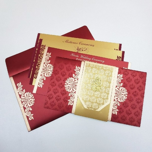 Sikh Wedding Cards T2-998 Full View