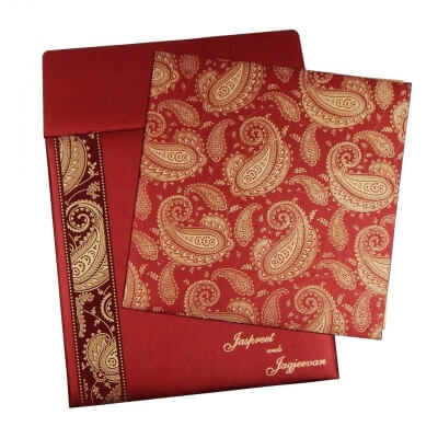Sikh Wedding Cards T3-1086 Full View