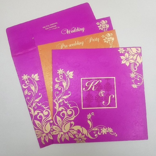 Sikh Wedding Cards T3-1229 Full View