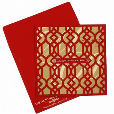Hindu Wedding Card T2-745R Full View