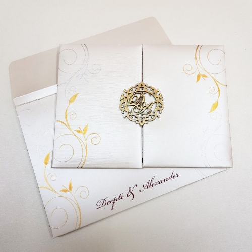 Hindu Wedding Card T1-010 Full View