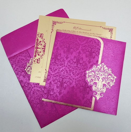 Hindu Wedding Card T1-823 Full View