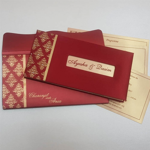 HARDBOUND PADDED INVITES T5-022 Full View