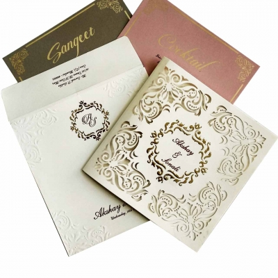 Hindu Wedding Card T2-1086 Full View