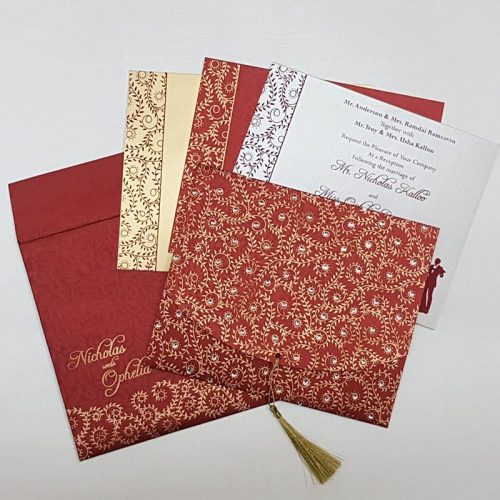 SIKH WEDDING CARDS T3-1232 Full View