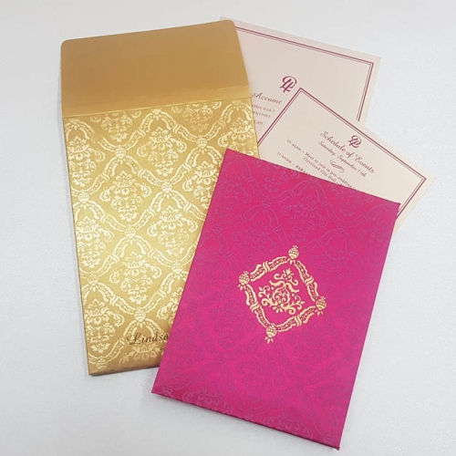 HARDBOUND PADDED INVITES T5-1164 Full View