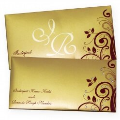 Sikh Wedding Cards T3-002 Full View