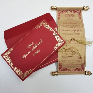 Scroll Wedding Cards T1-553 Full View