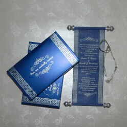 Scroll Wedding Cards T1-1016 Full View