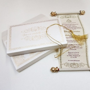 Scroll Wedding Cards T1-1001 Full View