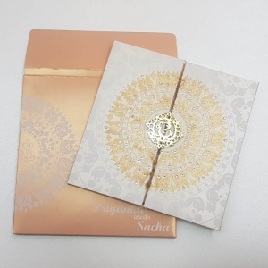 Scroll Wedding Cards T5-006 Full View