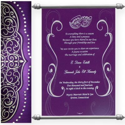 Scroll wedding cards have been popular for ancient time when emperors used these to spread news of marriage to whole kingdom. Today, these are used by many ...