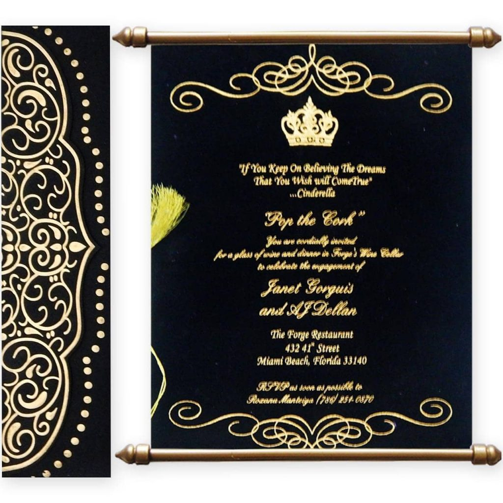 Wedding Cards With Matte Finish