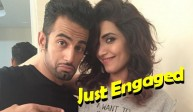 Upen Patel and Karishma Tanna Engagement on Nach Baliye Sets