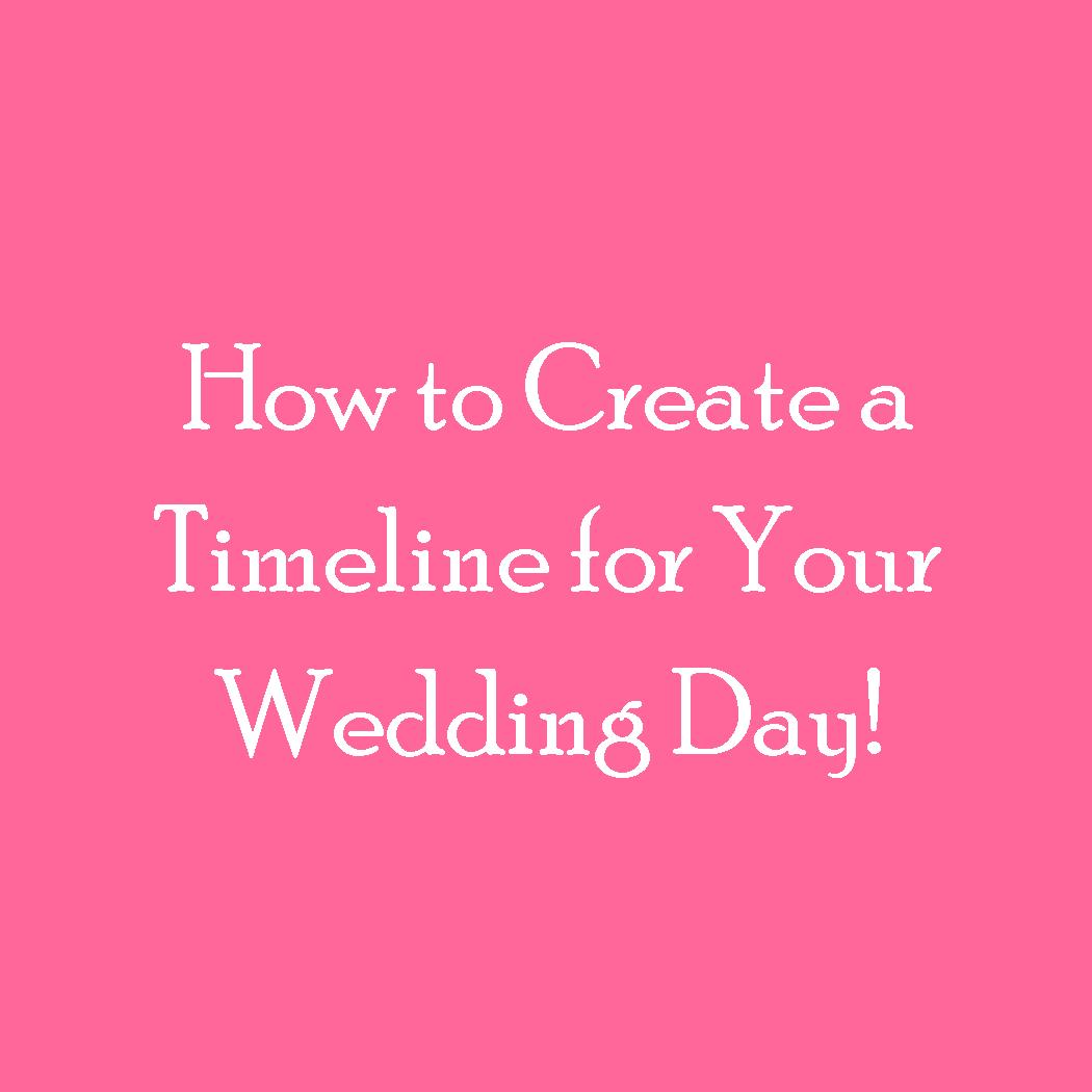 Wedding Day Timeline To Keep You Stress-Free