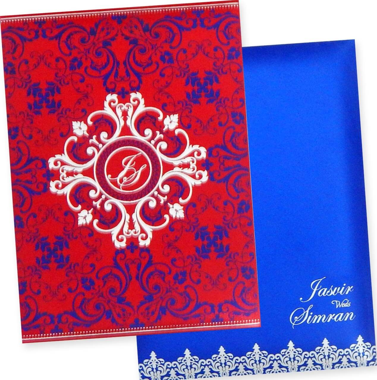 The Wedding Cards Online | Indian Wedding Cards: Box Type Padded ...