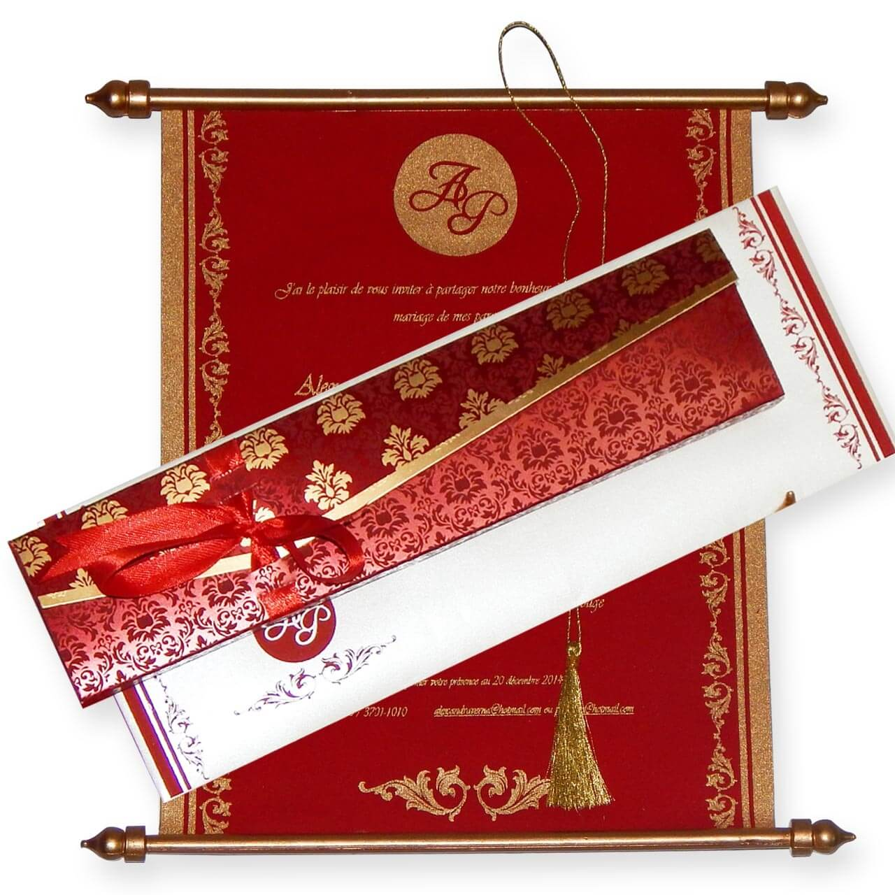 Red And Gold Muslim Wedding Invitation Card Ssc10r: Swc-520