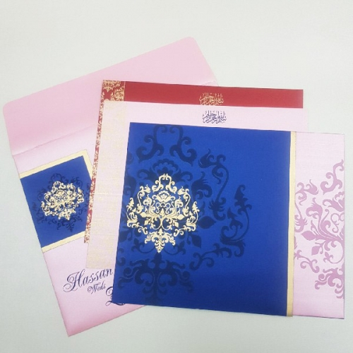 muslim wedding card design template free download