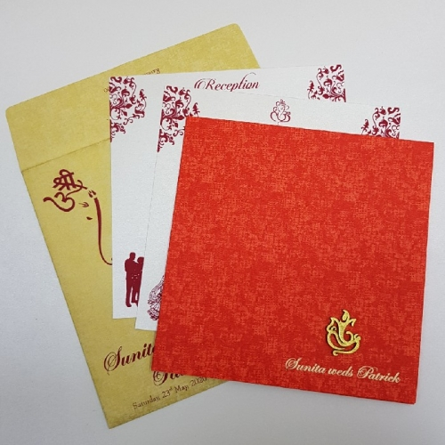 hindu wedding program cards