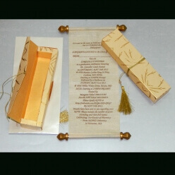 Scroll Wedding Cards T1-1002 Full View