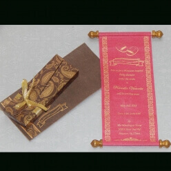 Scroll Wedding Cards T1-1009 Full View