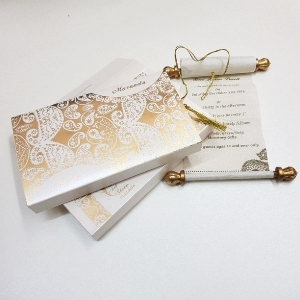 Scroll Wedding Cards T1-551 Full View