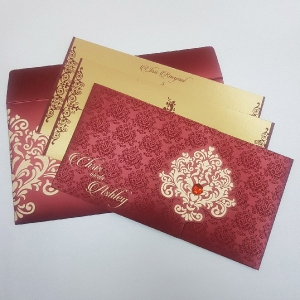 Christian Wedding Cards T4-1124 Full View