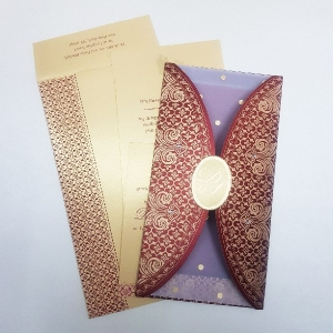 Sikh Wedding Cards T3-1112 Full View