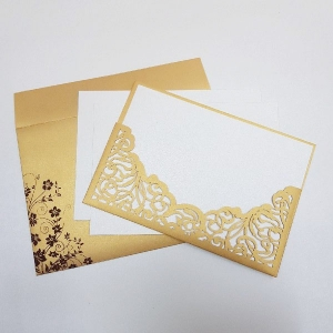 Scroll Wedding Cards T6-284 Full View