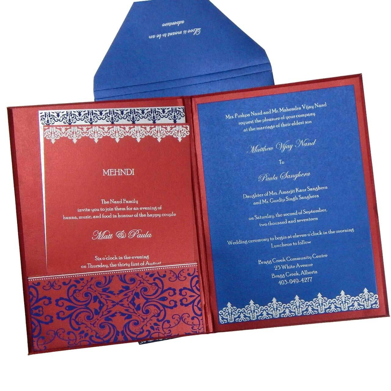 The wedding cards online indian wedding cards box type for Online wedding cards